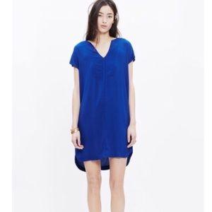 Madewell Royal Blue Du Jour Tunic Dress Sz XXS